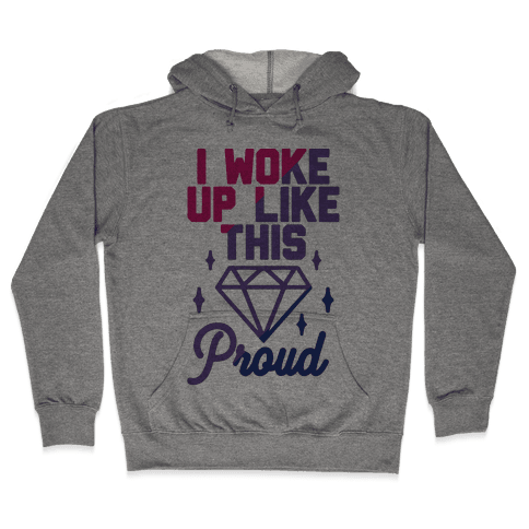 I Woke Up Like This Proud Bisexual Hooded Sweatshirt