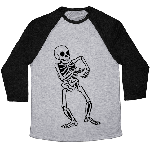 Milly Rocking Skeleton Baseball Tee