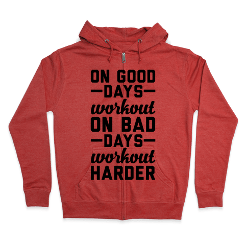 On Good Days Workout Zip Hoodie