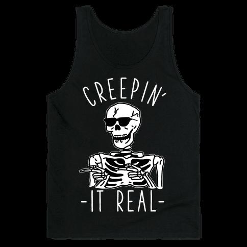Creepin' It Real Skeleton  Tank Top
