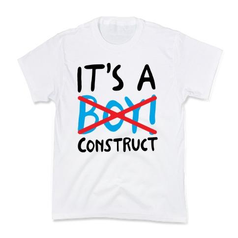 It's A Construct Boy Parody Kids T-Shirt