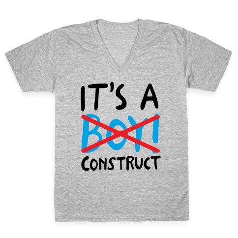 It's A Construct Boy Parody V-Neck Tee Shirt