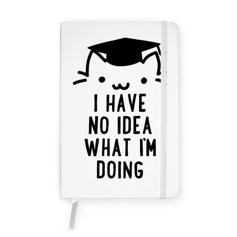 Graduation Cat Notebook