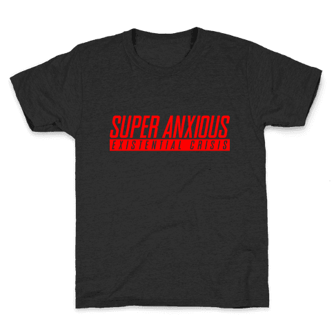 Super Anxious Existential Crisis SNES Parody Kids T-Shirt