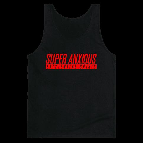 Super Anxious Existential Crisis SNES Parody Tank Top