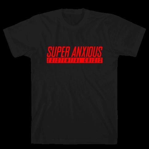 Super Anxious Existential Crisis SNES Parody Mens/Unisex T-Shirt