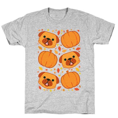 Pug Pumpkin Pattern T-Shirt