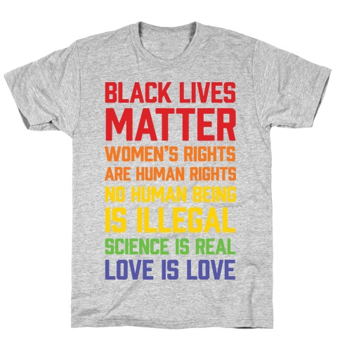 Black Lives Matter List T-Shirt