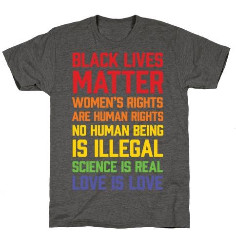 Black Lives Matter List T-Shirt