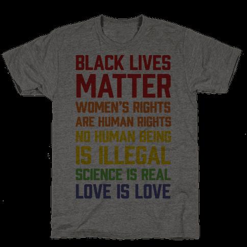 Black Lives Matter List Mens T-Shirt