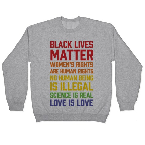 Black Lives Matter List Pullover