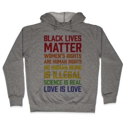 Black Lives Matter List Hooded Sweatshirt