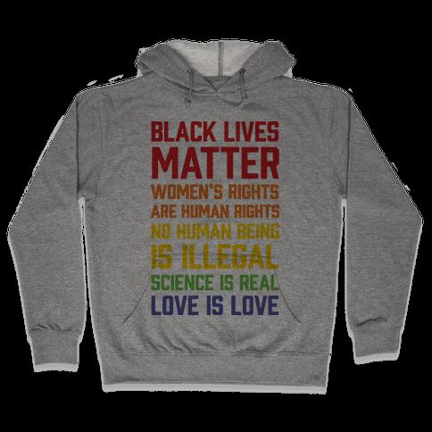 Black Lives Matter List Hooded Sweatshirt
