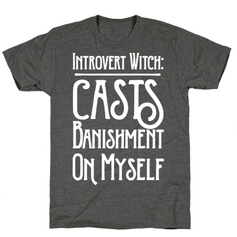 Introvert Witch White Print T-Shirt