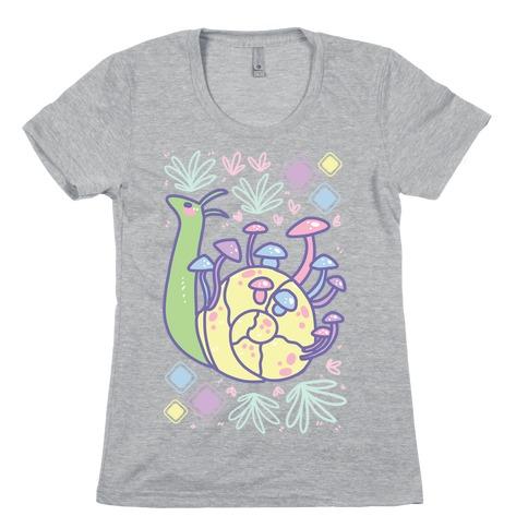 Pastel Mushroom Snail Womens T-Shirt