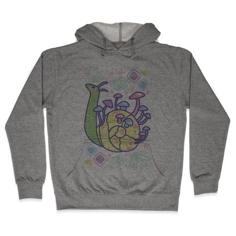 Pastel Mushroom Snail Hooded Sweatshirt