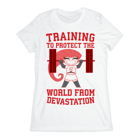 Training To Protect Our World From Devastation Womens T-Shirt