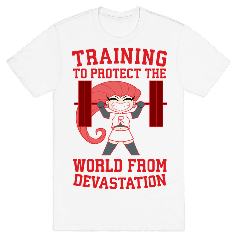 Training To Protect Our World From Devastation Mens/Unisex T-Shirt