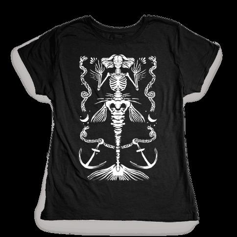 Dead Mermaid Womens T-Shirt