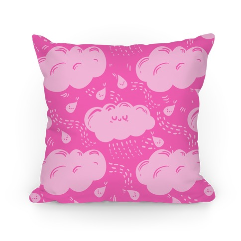 Cutie Rain Clouds (Pink) Pillow