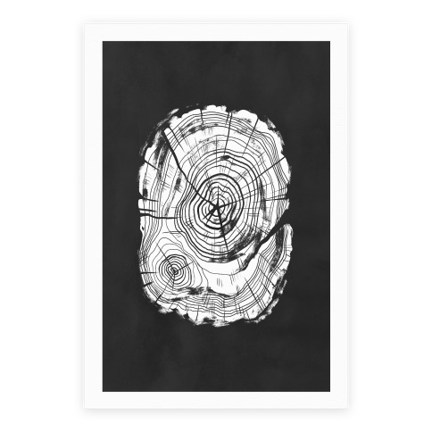 Tree Growth Rings Poster