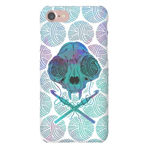 Cat Skull & Crochet Hooks Phone Case
