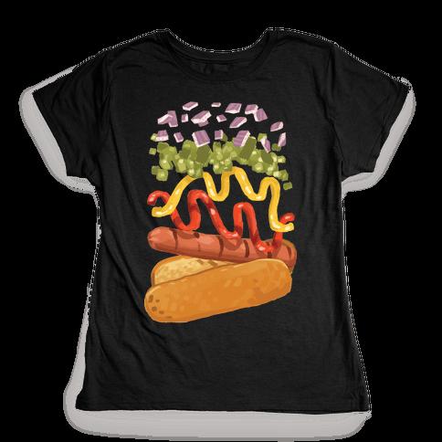 Anatomy Of A Hot Dog Womens T-Shirt