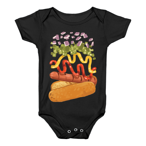 Anatomy Of A Hot Dog Baby Onesy