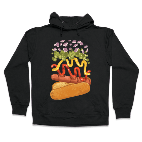 Anatomy Of A Hot Dog Hooded Sweatshirt
