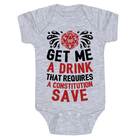 Get Me A Drink That Requires A Constitution Save Baby One-Piece