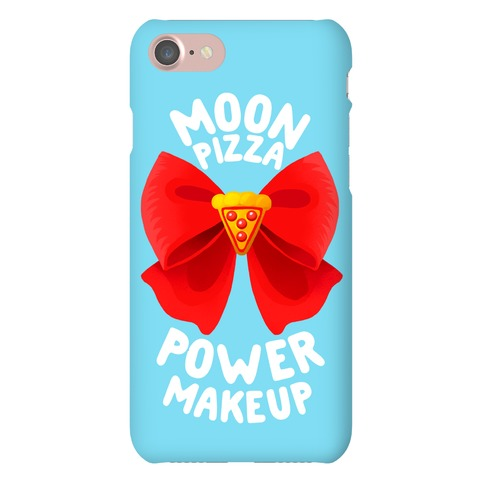 Moon Pizza Power Makeup! Phone Case
