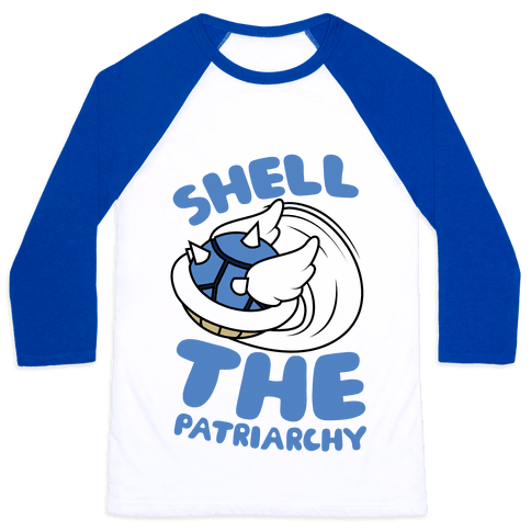 Blue Shell The Patriarchy Baseball Tee