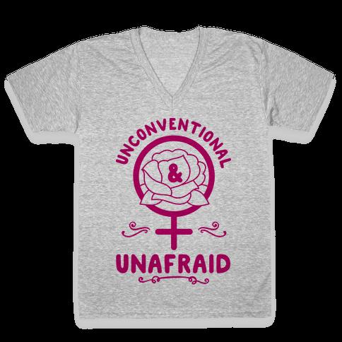 Unconventional & Unafraid V-Neck Tee Shirt