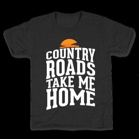 Country Roads, Take Me Home Kids T-Shirt