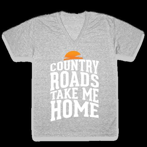 Country Roads, Take Me Home V-Neck Tee Shirt