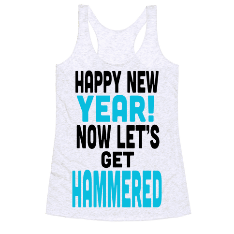 Happy New Year! (Tank) Racerback Tank Top