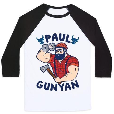 Paul Gunyan Baseball Tee