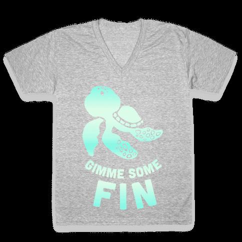 Gimme Some Fin V-Neck Tee Shirt