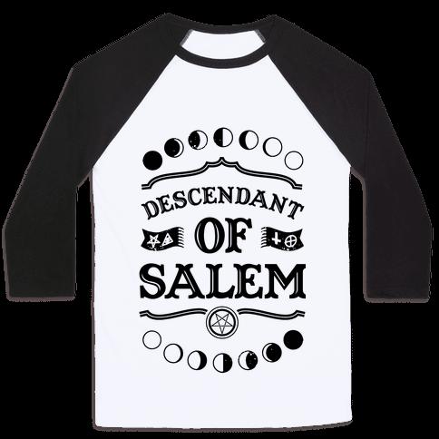 Descendant of Salem Baseball Tee