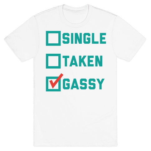 Single Taken Gassy Mens T-Shirt