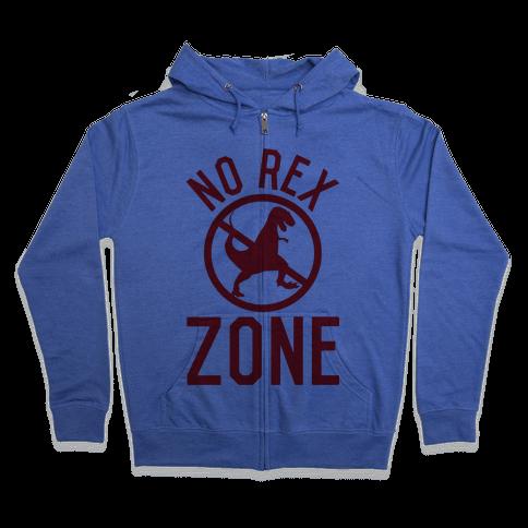 No Rex Zone Zip Hoodie