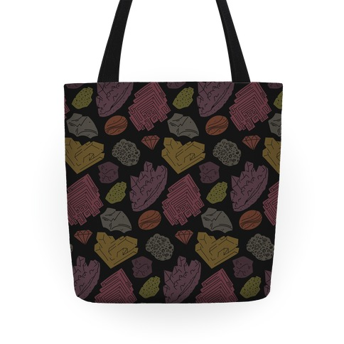 Rock & Mineral Pattern Tote