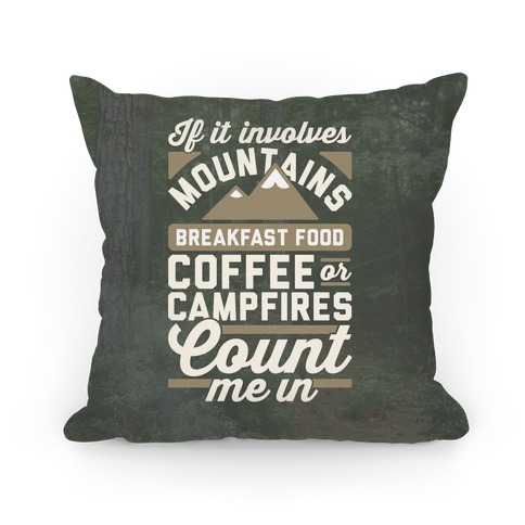 Count Me In Pillow