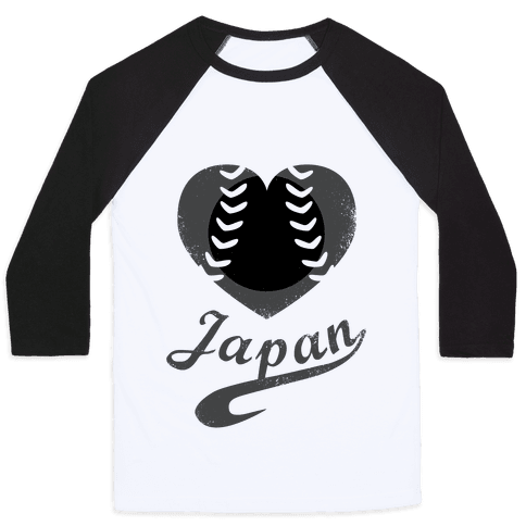 Japan Baseball Love (Baseball Tee)