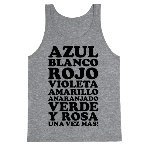 Spanish Color Song Tank Top