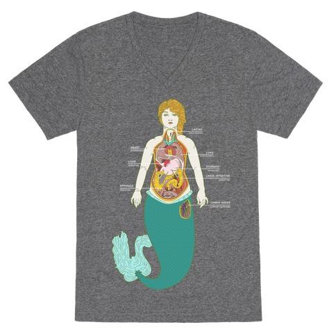 Mermaid Autopsy V-Neck Tee Shirt