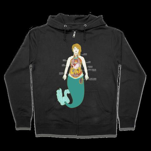 Mermaid Autopsy Zip Hoodie