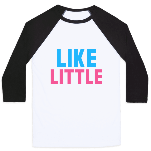 Like Big Like Little (Little) Baseball Tee