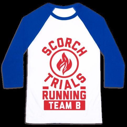 Scorch Trials Running Team B Baseball Tee