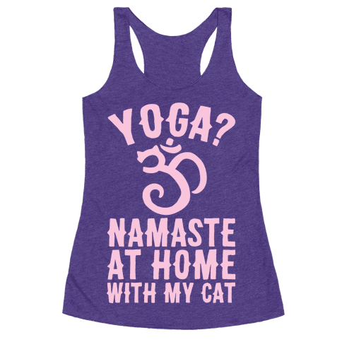Namaste At Home With My Cat